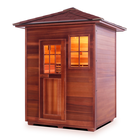 Enlighten MoonLight 3 Peak 3 Person Dry Traditional Outdoor/Indoor Sauna T-16377