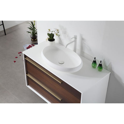"Image of Karton Republic Goreme 30"" Smoke Oak Gray Wall Mount Modern Bathroom Vanity VAGORSM30WM"