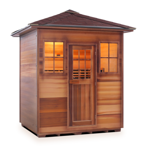 Image of Enlighten Sierra - 4 Person Indoor/Outdoor Peak Infrared Sauna 16378