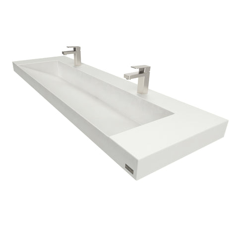 "Image of Trueform Concrete 60"" Contempo Floating Concrete Ramp Sink Flo-60V-Contempo"