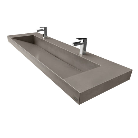"Trueform Concrete 60"" Contempo Floating Concrete Ramp Sink Flo-60V-Contempo"