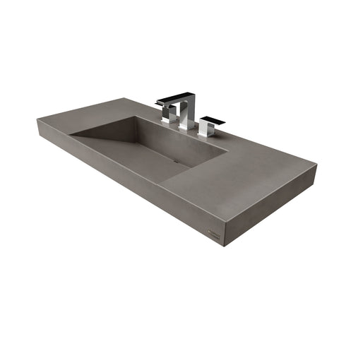 "Trueform Concrete 40"" Contempo Floating Concrete Ramp Sink Flo-40V-Contempo"