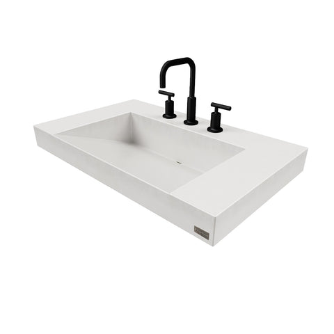 "Trueform Concrete 30"" Contempo Floating Concrete Ramp Sink Flo-30V-Contempo"