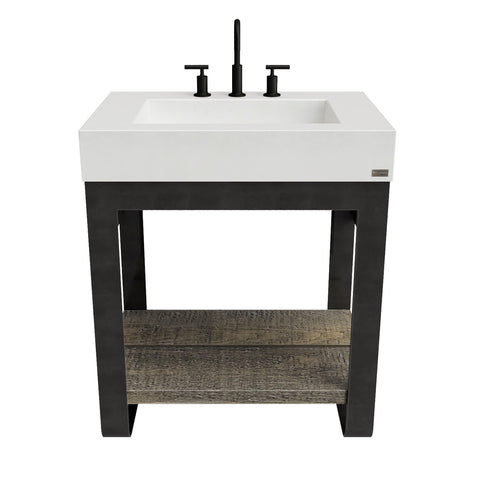 "Trueform Concrete 36"" Outland Vanity With Concrete Ramp Sink OUTLAND-36V"