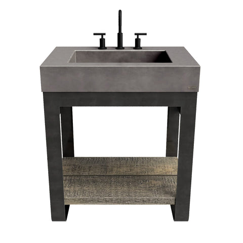 "Trueform Concrete 30"" Outland Vanity With Concrete Rectangle Sink OUTLAND-30N"