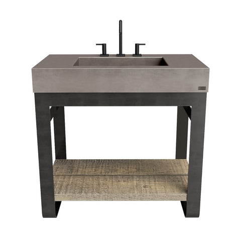 "Trueform Concrete 36"" Outland Vanity With Concrete Rectangle Sink OUTLAND-36N"