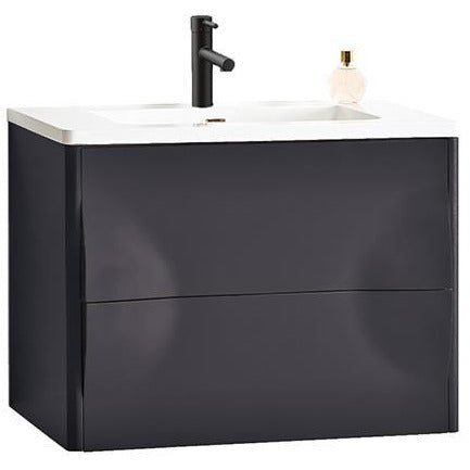 "Image of Karton Republic Colmar 30"" Dark Gray Wall Mount Modern Bathroom Vanity w/Sink VACOLDG30WM"