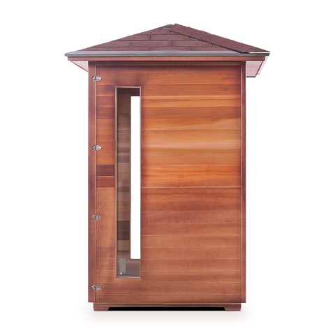 Enlighten Rustic - 2 Person Indoor/Outdoor Infrared Sauna 17376