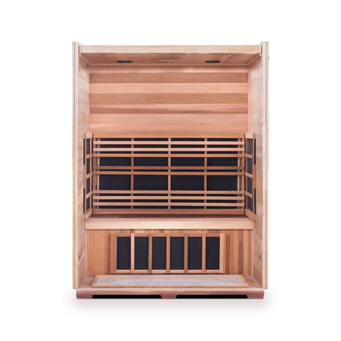 Enlighten Sierra - 3 Person Indoor/Outdoor Peak Infrared Sauna 16377