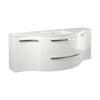 "Latoscana Ambra 57"" Wall-Mounted Vanity With Left and Right Concave Cabinet in Glossy White AM57W"