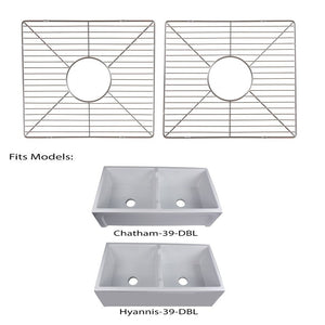 Nantucket Sinks Stainless Steel Bottom Grids Set BG-HC39