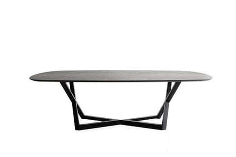 "Image of YumanMod Belfast 78"" Dining Table- Oakwood Top Oakwood Base BR01.02.03"