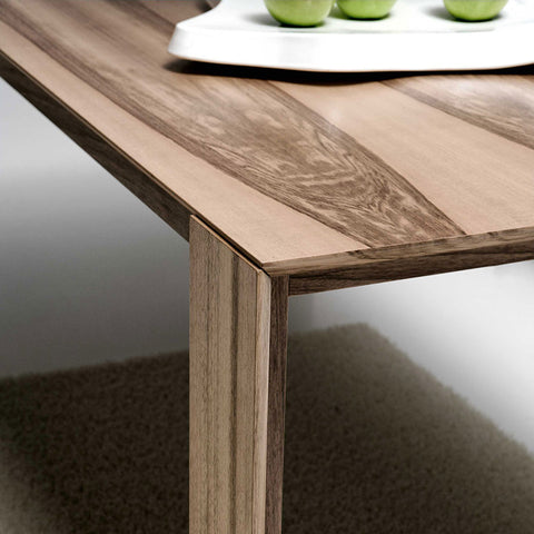 "YumanMod Jane 79"" Rectangular Table Extendable in Natural Walnut BR01.07.02"
