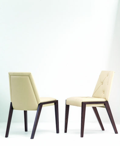 Image of YumanMod Rose Dining Chair Set of 2 Genuine Leather BR02.02.01D-201