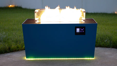Image of Music City Fire Company The Echo Hue Music Responsive Fire Pit Table Technology MC032492B