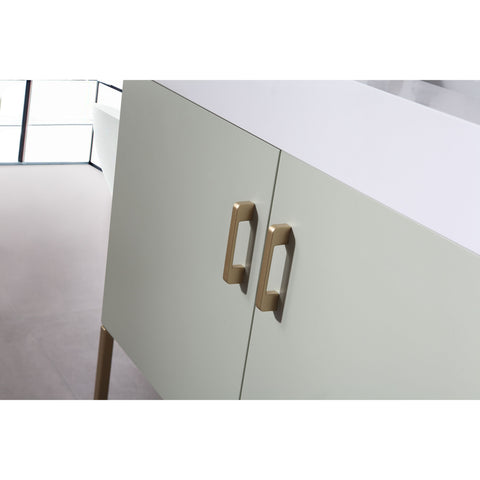 "Image of Karton Republic Veemon 36"" Pine Mist Dual Mount Modern Bathroom Vanity w/ Sink VAVEEPM36FD"
