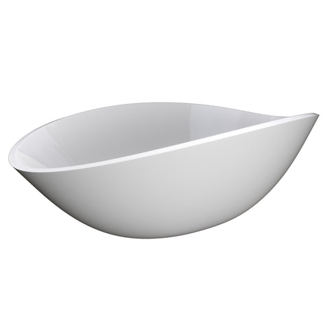 "Cambridge Plumbing Dolomite Mineral Composite 24"" Oval Vessel Sink ES-OVS24"