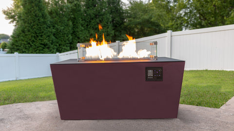 Music City Fire Company The Echo Hue Music Responsive Fire Pit Table Technology MC032492B