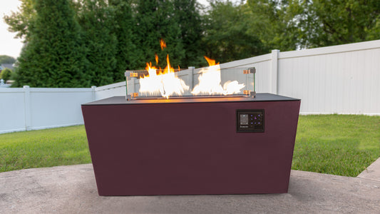 "Music City Fire The Echo Hue 44"" Music Reactive Fire Table Pit  MC032492B"