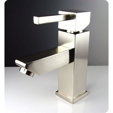Image of Fresca Versa Single Hole Mount Bathroom Faucet - Brushed Nickel FFT1030BN