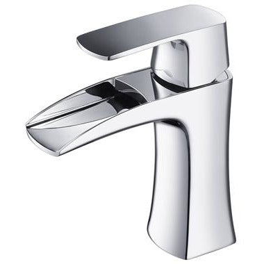 Image of Fresca Fortore Single Hole Mount Bathroom Faucet - Chrome FFT3071CH