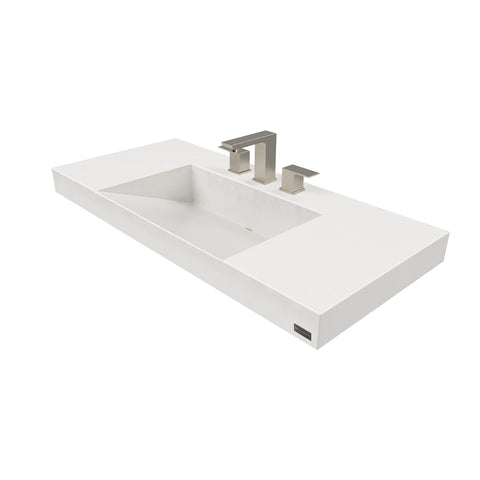 "Image of Trueform Concrete 40"" Contempo Floating Concrete Ramp Sink Flo-40V-Contempo"