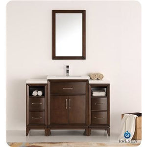 "Fresca Cambridge 48"" Antique Coffee Traditional Bathroom Vanity w/ Mirror FVN21-122412AC"