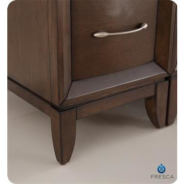 "Image of Fresca Cambridge 48"" Antique Coffee Traditional Bathroom Vanity w/ Mirror FVN21-122412AC"