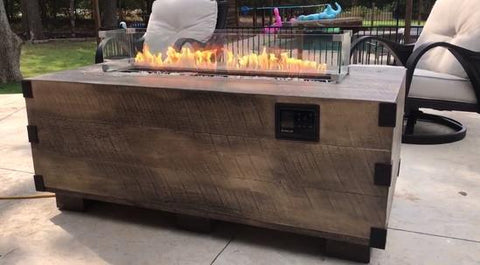 Music City Fire Company 12Th South Trunk Wood ™ Fire Pit Table Music Reactive MC040103