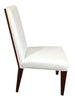 Greg Sheres Lauren Kitchen & Dining Chairs, Walnut Faux Leather Set of 2 AD19