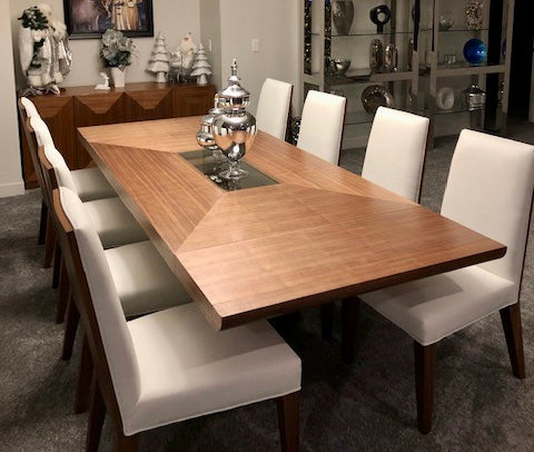 Greg Sheres Lauren Kitchen & Dining Tables, Walnut Extendable AD410-01K-07