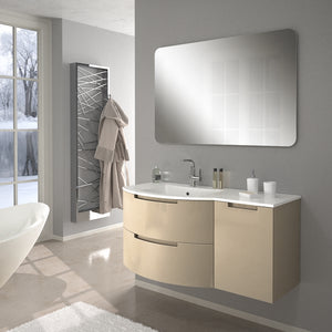 "Latoscana Oasi 43"" Wall-Mounted Vanity With Right Side Cabinet in Glossy White OA43OPT2W"