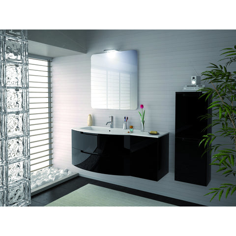 "Image of Latoscana Oasi 53"" Wall-Mounted Vanity With Right Side Cabinet in Glossy White OA53OPT2W"
