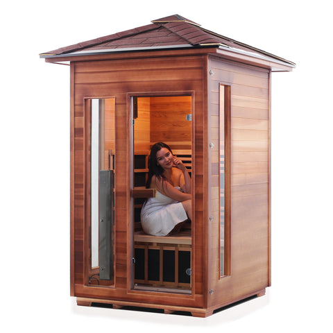 Image of Enlighten Rustic - 2 Person Indoor/Outdoor Infrared Sauna 17376