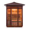 Enlighten Sunrise 3 Peak 3 Person Dry Traditional Outdoor/Indoor Sauna T-17377