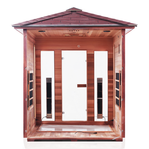 Image of Enlighten Rustic - 4 Person Indoor/Outdoor Peak Infrared Sauna 17378