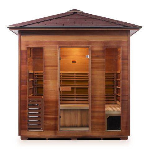 Enlighten Sunrise- 5 Peak 5 Person Dry Traditional Outdoor/Indoor Sauna T-19378