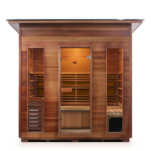 Image of Enlighten Sunrise- 5 Peak 5 Person Dry Traditional Outdoor/Indoor Sauna T-19378