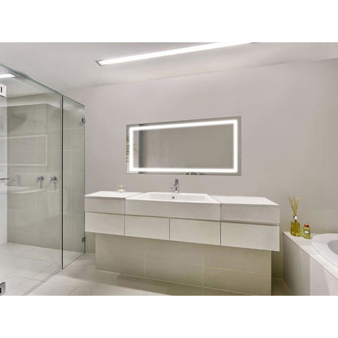 Image of Krugg 48″ X 24″ LED Bathroom Mirror w/ Dimmer & Defogger | Lighted Vanity Mirror Icon4824