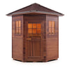 Enlighten MoonLight - 4 Peak Corner Unit 4 Person Dry Traditional Outdoor/Indoor Sauna T-16379