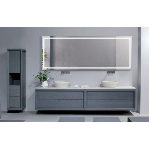 "Image of Krugg Large 96""x30"" LED Bathroom Mirror With Defogger EXL9636"