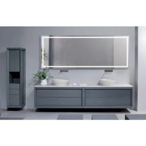 "Krugg Large 96""x30"" LED Bathroom Mirror With Defogger EXL9636"