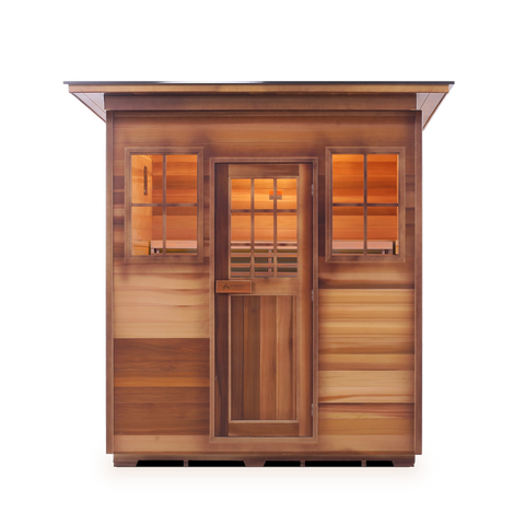 Enlighten MoonLight 4 Peak 4 Person Dry Traditional Outdoor/Indoor Sauna T-16378