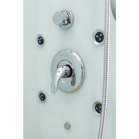 Image of Homeward Bath Jupiter Steam Shower Left Drain in White 35 x 35 x 86 M6023LW