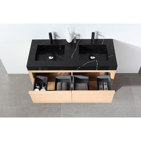 "Image of Karton Republic Bibury 48"" Chestnut Oak Freestanding Modern Bathroom Vanity w/ Sink VABIBCO48FD"