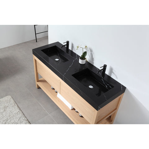 "Karton Republic Bibury 72"" Chestnut Oak Freestanding Modern Bathroom Vanity w/Sink VABIBCO72FD"