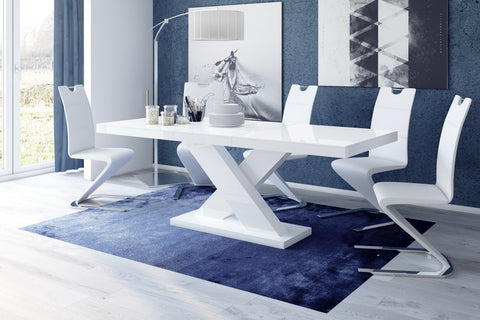 Image of Maxima House Xenon Lacquer Dining Table with Extension HU0038