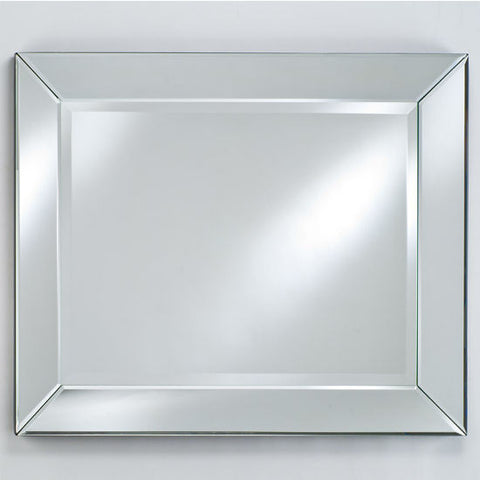 "Image of Afina  Radiance Venetian 40"" Rectangular Framed Wall Mount Bathroom Mirror RM-110"