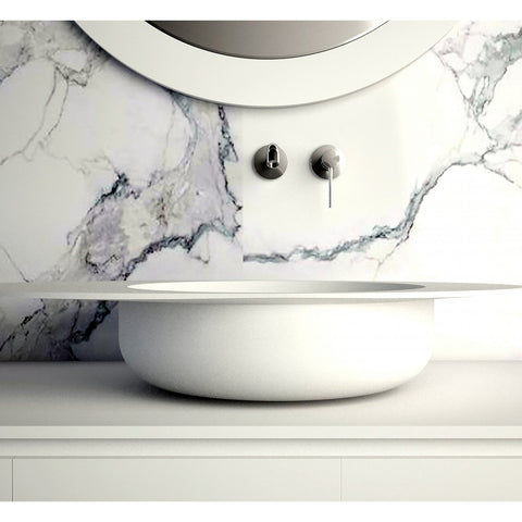 "Ideavit Solidcap 8.0 32"" Oval Shaped Vessel Bathroom Sink PS IDV 290228"