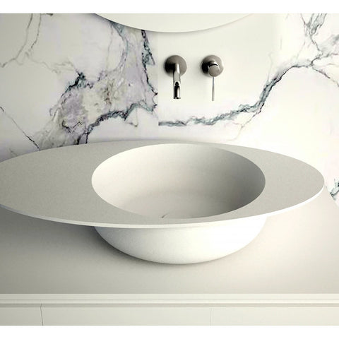 "Image of Ideavit Solidcap 8.0 32"" Oval Shaped Vessel Bathroom Sink PS IDV 290228"